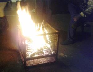 Fire pits, Fire baskets or fire bomas for Hire