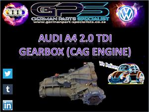 AUDI A4 2.0 TDI 2011 GEARBOX (CAG ENGINE) FOR SALE