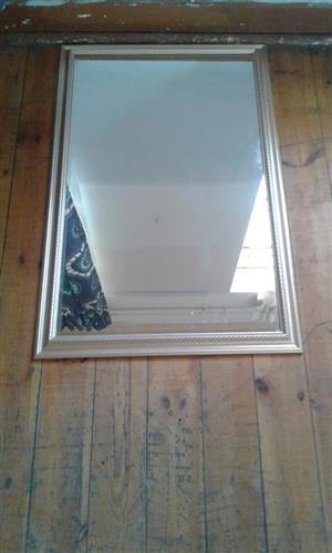 Silver framed mirror for sale