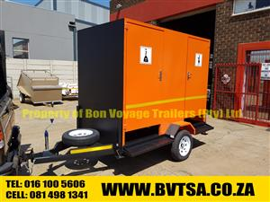 2 Compartment Toilet  Orange Trailer For Sale