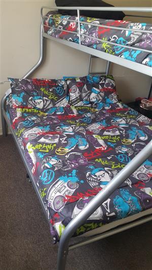 Steel Tri-bunk Bed