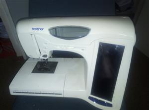 brother embroidery sewing machine R650 stuck in test mode, model galaxie 3000