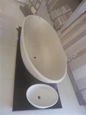 FREE STANDING BATHROOMS TUBES,JACUZZI,BASINS AND BASIN MIXERS