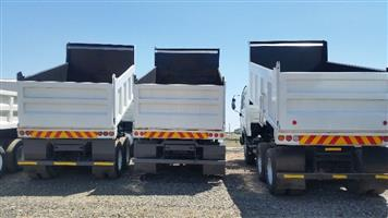 10 cube tipper trucks at a give away price