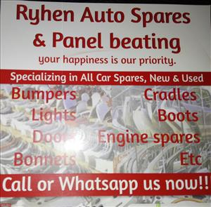 Ryhen auto spares, we specialized in all cars spares used and new body and engine( All Cars)