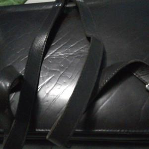 vintage school leather bag good condition