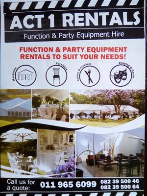 ACT1 RENTALS FUNCTION & MARQUEES HIRE