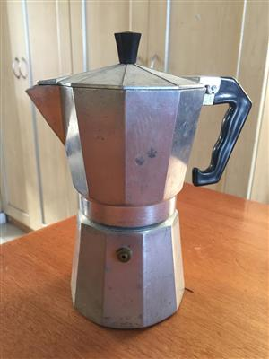 Moka pressure pot to enjoy a proper good espresso/coffee etc