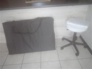 Portable massage bed and stool