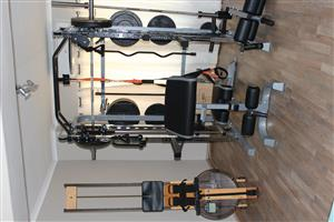 Force Monster G3 Commercial Gym Rack, Olympic weights, Waterrower