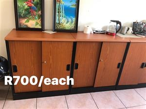 Wooden sliding door cabinet