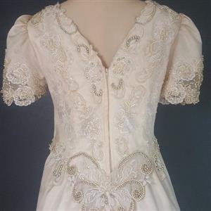 Old fashioned wedding dress