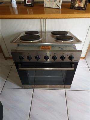 Counter stove and oven.