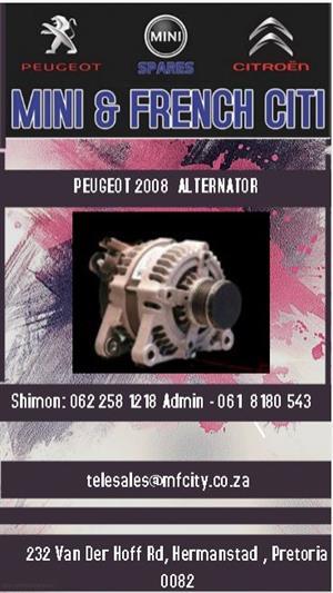 Peugeot 2008 alternator for sale.