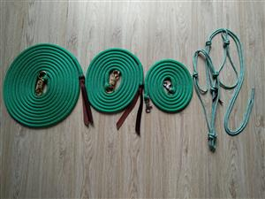Rope Halters and lead ropes