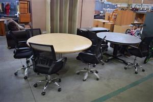 2 Round table boardroom sets