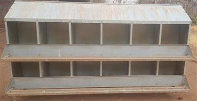 Chicken Laying Cage for 12 chickens galvanized R3800 O.N.O…