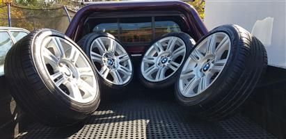 17 BMW OEM Mags with Tyres