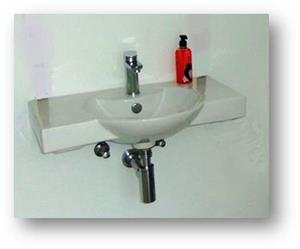 Cotto wall hung basin from Italtile.