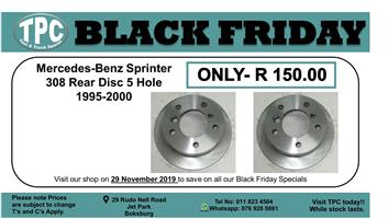 ★★★★BLACK FRIDAY 29 NOV★★★★  Mercedes-Benz Sprinter 308 Rear Disc 5Hole 1995-2000 For Sale.