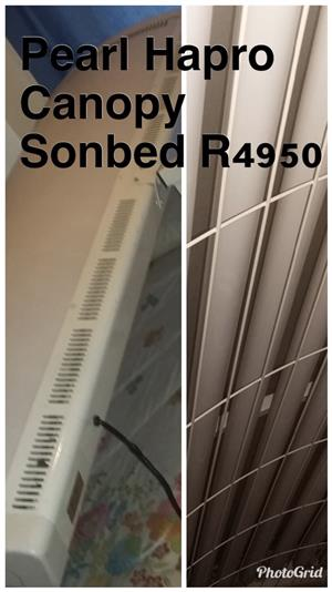 Sunbed: Pearl hapro canopy