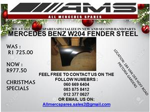 CHRISTMAS SPECIALS!!! MERCEDES BENZ W204 FENDER STEEL FOR SALE