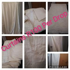 Various white curtains for sale