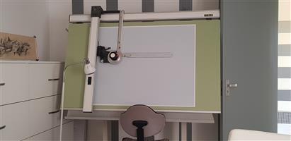 architect drawing bord