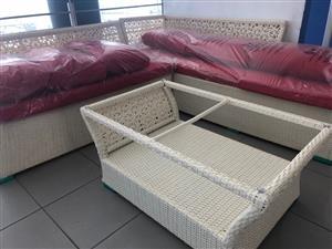 Imported Cane Patio Set