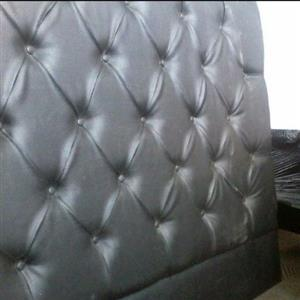 New Black King headboard & 2 pedestals