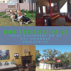 Perfect Stopover accommodation in Rouxville on the N6 between Aliwal North and Smithfield