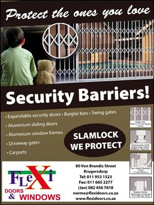 Flexi Security, slam-lock gates