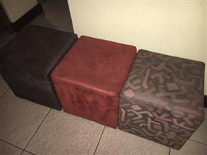 3 x Ottomans for Sale!