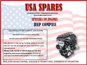 JEEP COMPASS 2019 USED ENGINE SPECIALS