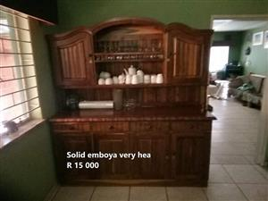 Solid emboya diningroom side cupboard