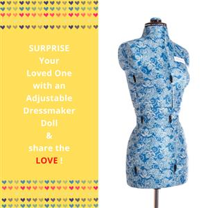 My Double Small Floral Form - Adjustable Dressmaker Doll / Mannequin / Sewing Doll