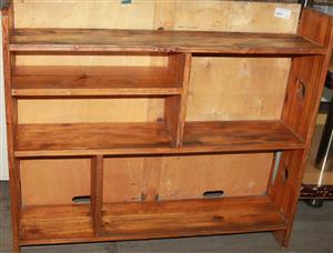 S034817C Brown bookcase #Rosettenvillepawnshop