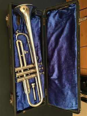 Vintage Silver plated Koronet Trumpet