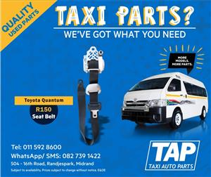 Toyota Quantum SEAT BELT - Taxi Auto Parts quality used spares - TAP