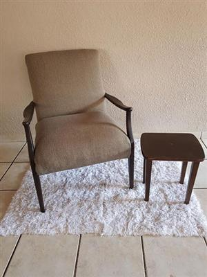 Chair and side table for sale