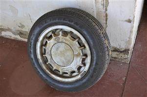 Original VW rim and new tyre