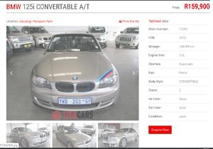 2010 BMW 1 Series 125i convertible