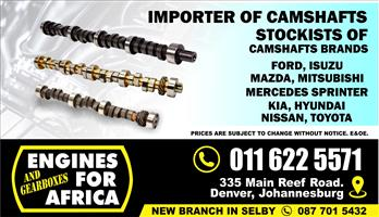 Importer of New and Used Camshafts FOR SALE