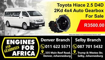 Toyota Hiace 2.5 D4D 2Kd 4x4 Auto Gearbox Used For Sale