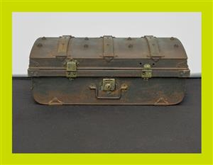 Used, Vintage Wood Banded Metal Trunk - SKU 827 for sale  Durban - Outer West Durban