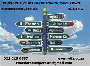 Consecutive Xhosa Interpreters in Cape Town