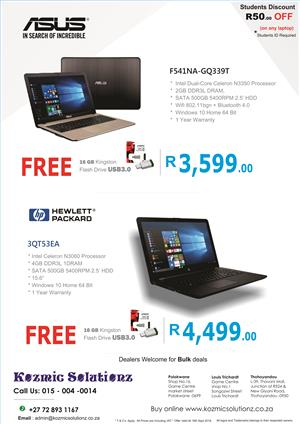Laptop Special,  Special Discount for STUDENTS
