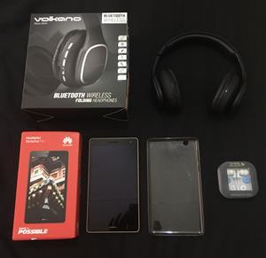 Huawei MediaPad T3 7 and Volkano Bluetooth Headphones