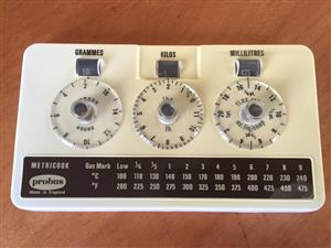 Probus Metricook Metric to Imperial conversion scale - Made in England