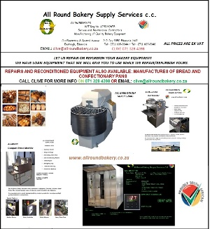 FOR ALL YOUR NEW AND USED BAKERY EQUIPMENT